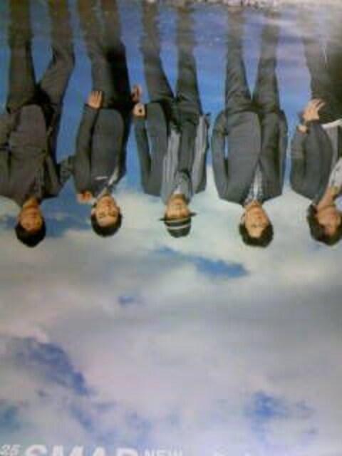 SMAP「さかさまの空」 非売品ポスター  < タレントグッズの