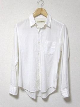 □ジャーナルスタンダード 長袖 シャツ/白/メンズ・S/革