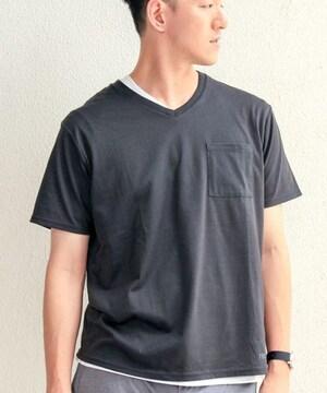 CIAOPANIC チャオパニック TECH+DRY Vネック Tシャツ/メンズ/S/黒/新品