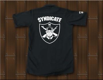 SYNDICATE★ワークシャツ・ギャングスタ★S★黒★新