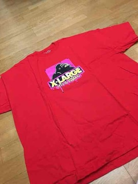 LA直輸入  X-LARGE  赤RED  size3XL  Made in USA
