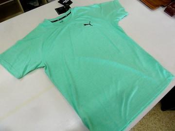 XL 薄緑)プーマ★Tシャツ 519249 半袖丸首薄手軽量 ドライセル吸水速乾