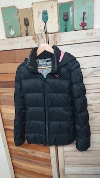 プーマ/PUMA ダウンジャケット フード フーディ ダウン90% L 防寒