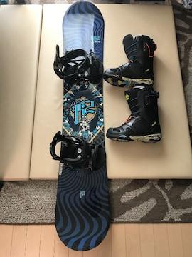 K2 FUSE155 スノーボード、ブーツ、ビンデング 超美品♪♪