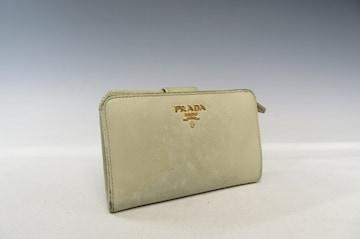 PRADA プラダ サフィアーノ 二つ折り財布 ベージュ