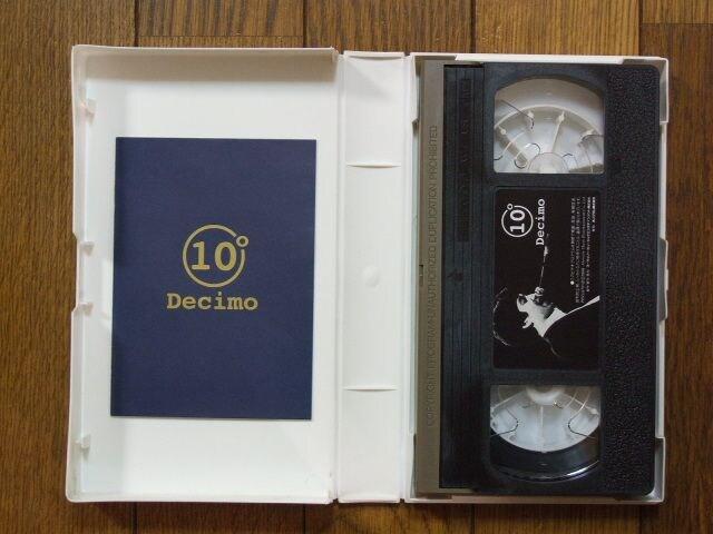 KAN 10周年コンサートツアー'97ライブビデオVHS「10°Decimo」中古! < タレントグッズの