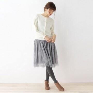 クチュールブローチ☆アンゴラカーディガン×ワンピースセット