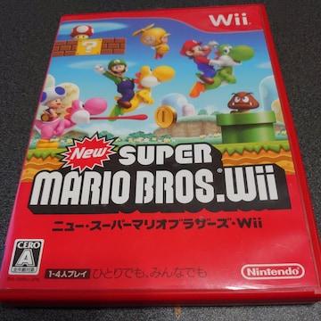 Wii!箱説あり!ニュー・スーパーマリオブラザーズ・Wii!ソフト