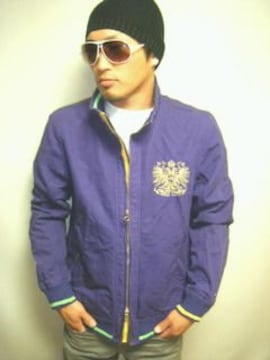 TOMMYゴールド刺繍コットンジャケット紫Lトミースワッガー