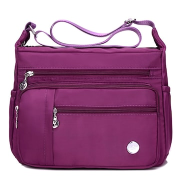 防水 斜めがけバッグ ナイロン 撥水加工 女性 紫