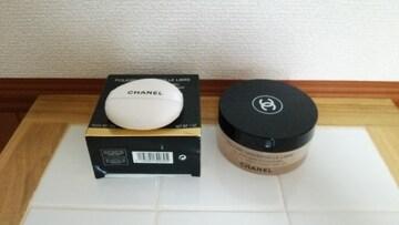 シャネル/コスメケース容器と新品パフセット