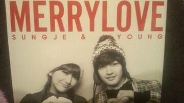 激レア!☆ジョン・ソンジュ/MERRY LOVE☆初回盤/CD+DVD生サイン入り!美品!