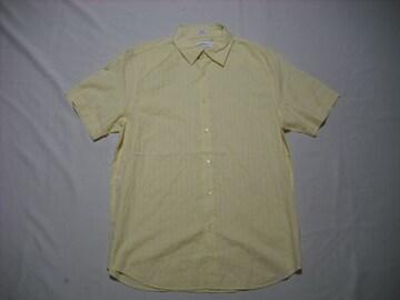 66 男 CK CALVIN KLEIN カルバンクライン 黄 半袖シャツ Mサイズ