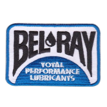 BEL-RAY(ベルレイ)■ワッペン■白青黒#blr001