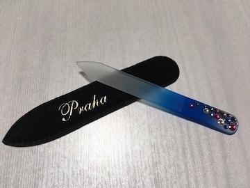 新品未使用プラハチェコガラスネイルファイルグラス製爪やすり