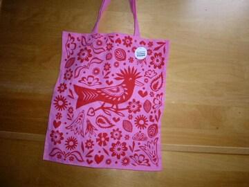 フライングタイガー綿エコバッグ東京ピンク新品ショルダー