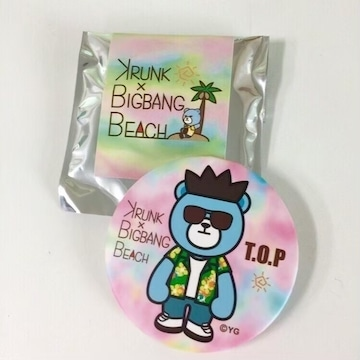 ◆KRUNK×BIGBANG BEACHグッズ◆TOPトップ缶バッジ★由比ガ浜♪