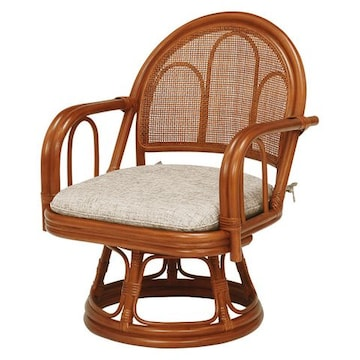籐回転座椅子 RZ-942BR(2個セット)