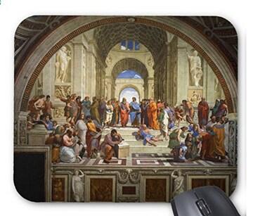 ラファエロ『 アテナイの学堂 』のマウスパッド (A)