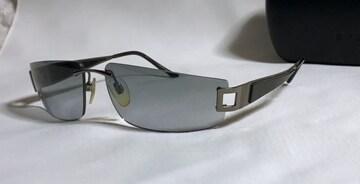 正規美 BVLGARIブルガリ セルフレーム メタルスポーティーサングラス黒 ブラック ケース有