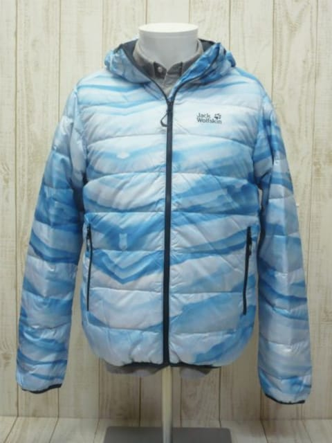 即決☆ジャックウルフスキン特価 Lサイズ アイス ダウンジャケット 新品  < 男性ファッションの