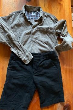 ユニクロ YシヤツUNIQLO+黒半ズボン サイズsーm