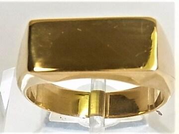 K18 18金 リング 印台 指輪 サイズ#16 男女兼用