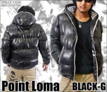 【POINT LOMA/ポイントローマ】カラージップフードチェック中綿ジャケット