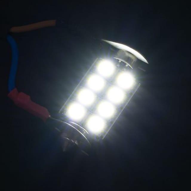 ■T10x41 LED 8連 キャンセラー内蔵 ルームランプ 2個[L38] < 自動車/バイク