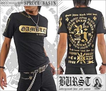 メール便送料無料【MAD BURST JAPAN】70536Tシャツ黒金XL