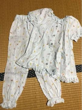 美品 キッズ 半袖パジャマ 水色 120