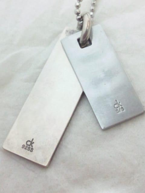 カルバンクライン【Calvin Klein】925シルバー&ステンレス プレート ネックレス トップ < ブランドの