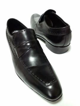 美品ランバンコレクションスリッポンビジネスシューズ紳士靴通勤通学お仕事Safari