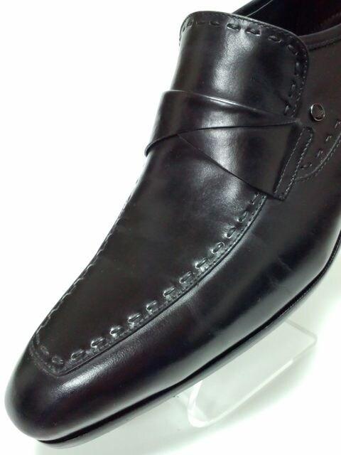 美品ランバンコレクションスリッポンビジネスシューズ紳士靴通勤通学お仕事Safari < ブランドの