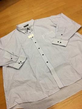 MARIO ESPERANZA  ビジネスYシャツ  ストライプ  size8LB