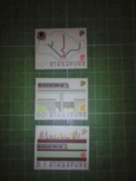 シンガポール鉄道切手3種類♪