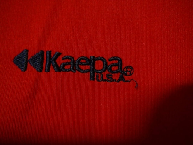 Kaepa USAの赤のポロシャツ(M)!。 < 男性ファッションの
