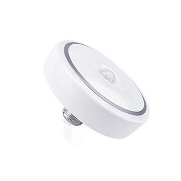 昼光色 E26-15W 人感センサー LED 小型 シーリングライト 明暗