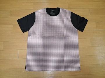 新品ポールスミスPaul SmithカットソーM黒チェック柄Tシャツ
