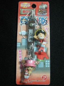 ONE PIECE ワンピース 東京限定 ルフィ チョッパー フィギュア 東京タワー ストラップ