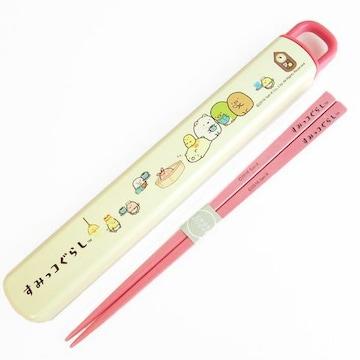 【すみっコぐらし】可愛い安心日本製♪18cm箸&スライド箸箱セット
