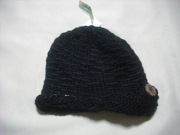 wb176 女 BILLABONG ビラボン ニット帽 ブラック