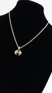 正規美 Nina Ricciニナリッチ NRロゴストーン装飾ネックレス 純正チェーン 約39~43�p