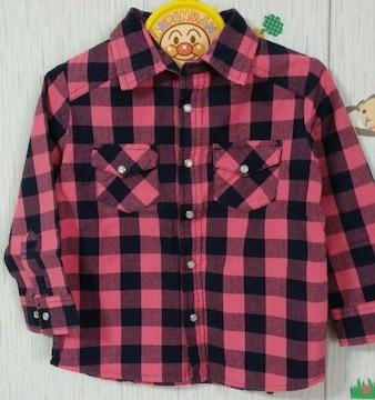 SKIP LAND☆春物☆チェック柄のシャツ☆size100