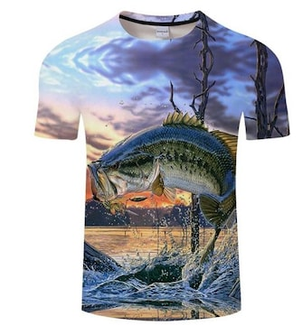 バスフィッシング!!速乾!!かっこいい!TシャツXLサイズ新品