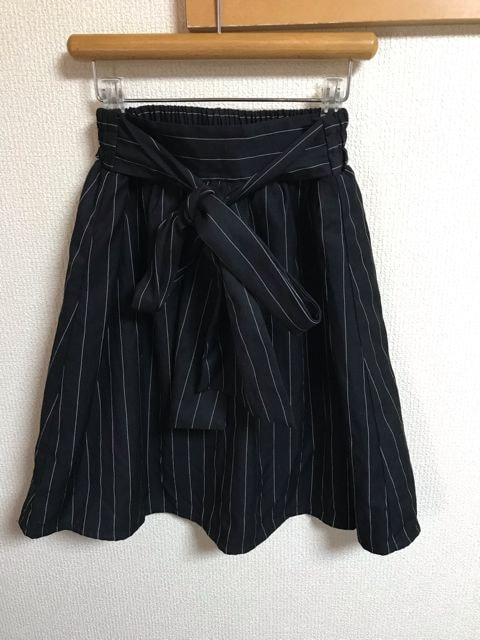 ★神戸レタス 黒&白ストライプ 前結スカート★  < ブランドの