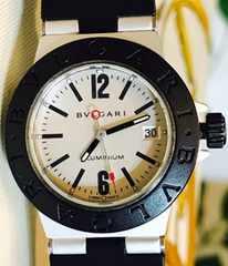 ブルガリアルミニウムレディース時計クオーツ稼働品AL29TA