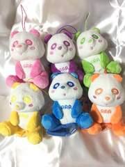 AAA え〜パンダ 肩のりぬいぐるみ 6種類コンプセット