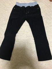 ☆100サイズ黒色ズボン☆伸縮性ストレッチあり