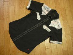倉byエターナル サイズM半袖ウエスタンシャツ黒 和柄